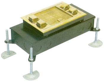 시스템 박스 콘크리트 매입형 (황동 사각4구)