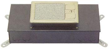 시스템 박스 콘크리트 매입형 (황동 사각2구)