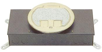 시스템 박스 콘크리트 매입형 (황동 원형2구)