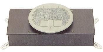 시스템 박스  콘크리트 매입형 (알루미늄 원형2구)