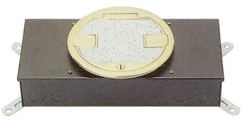 콘크리트 매입형 황동 원형2구 시스템 박스(전선관 TYPE)